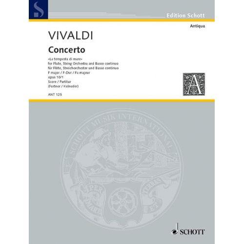 SCHOTT VIVALDI ANTONIO - CONCERTO NO 1 F MAJOR OP 10/1 RV 433/PV 261