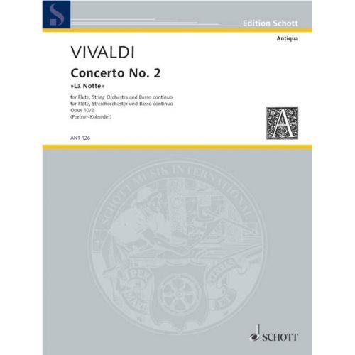 SCHOTT VIVALDI ANTONIO - CONCERTO NO 2 G MINOR OP 10/2 RV 439/PV 342