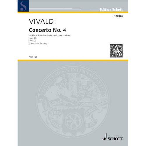 SCHOTT VIVALDI ANTONIO - CONCERTO NO 4 G MAJOR OP 10/4 RV 435/PV 104