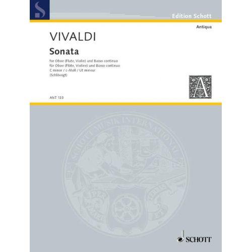 SCHOTT VIVALDI ANTONIO - SONATA C MINOR RV 53 - OBOE AND BASSO CONTINUO