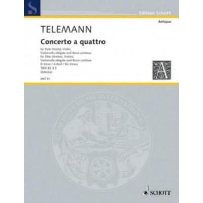 SCHOTT TELEMANN - CONCERTO A QUATTRO TWV 43:d3 - CONDUCTEUR & PARTIES