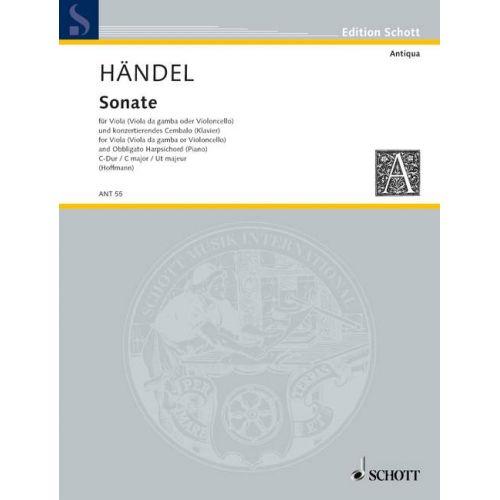 SCHOTT HAENDEL GEORG FRIEDRICH - SONATA - VIOLA AND CONCERTANT HARPSICHORD