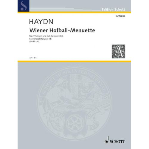SCHOTT HAYDN JOSEPH - WIENER HOFBALL-MENUETTE