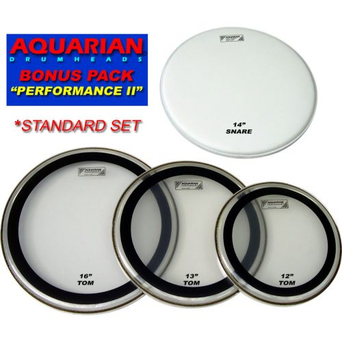 AQUARIAN PERFORMANCE II STANDARD DRUM HEAD SET 12