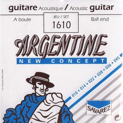SAVAREZ ACOUSTIC 1610 ARGENTINE X LH BALL END 10 14 22 28 36 45