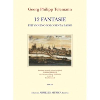 ARMELIN TELEMANN G.P. - 12 FANTAISIES - VIOLON SOLO