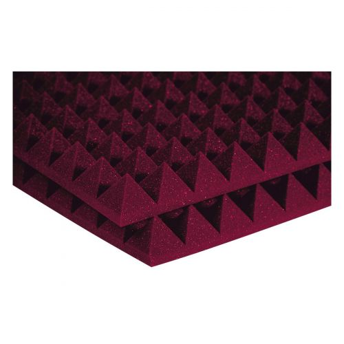 AURALEX ACOUSTICS STUDIOFOAM PYRAMID BURGUNDY (SET OF 12)