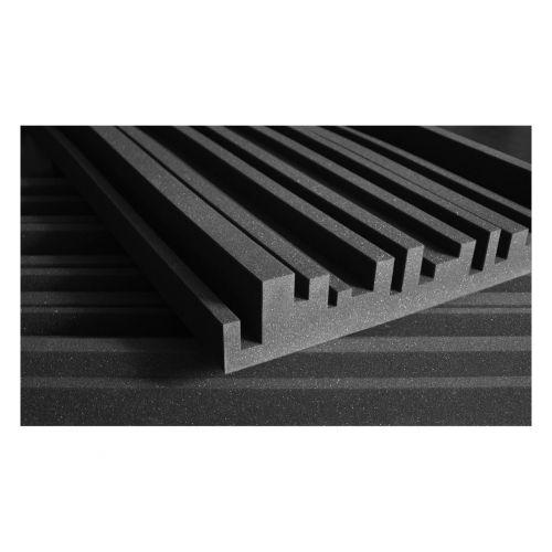 AURALEX ACOUSTICS STUDIOFOAM METRO 60,96CM X 121,92CM X 10,16CM CHARCOAL SET DE 6