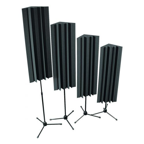 AURALEX ACOUSTICS STAND MOUNTED LENRD BASS TRAP CHARCOAL SET OF 4