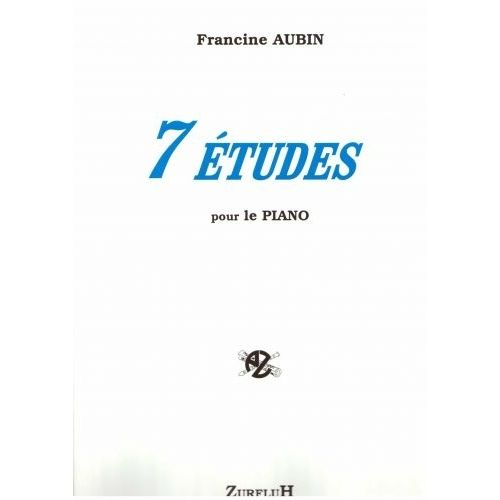 ROBERT MARTIN AUBIN F. - SEPT ETUDES POUR PIANO