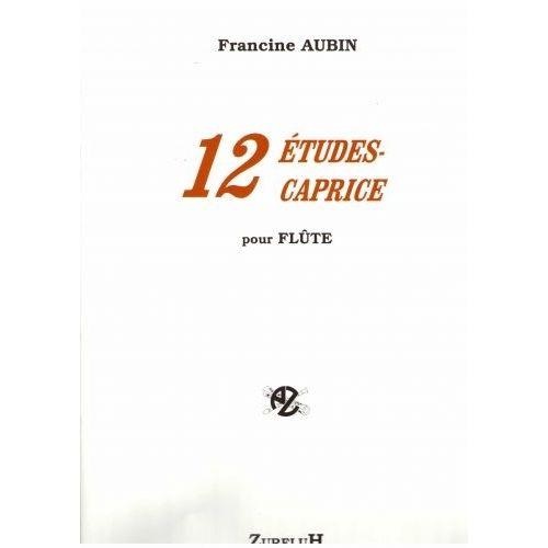 ROBERT MARTIN AUBIN F. - DOUZE ETUDES CAPRICE POUR FLUTE
