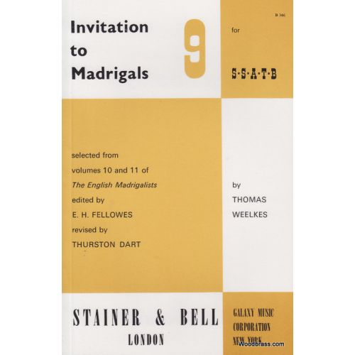 STAINER AND BELL INVITATION TO THE MADRIGALS VOL.9