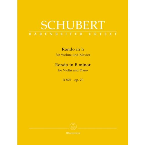 BARENREITER SCHUBERT FRANZ - RONDO FOR VIOLIN AND PIANO OP.70 D895