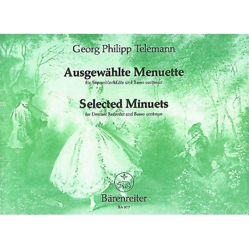 BARENREITER TELEMANN G.P. - SELECTED MINUETS TWV 34 - RECORDER, PIANO