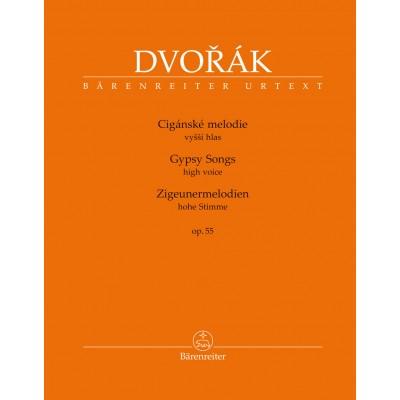 BARENREITER DVORAK A. - GYPSY SONGS OP.55 - VOIX HAUTE & PIANO