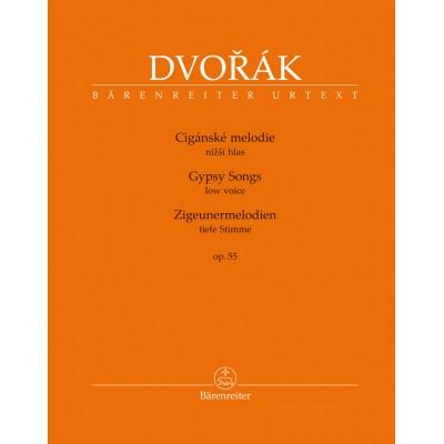 BARENREITER DVORAK A. - GYPSY SONGS OP.55 - VOIX BASSE & PIANO