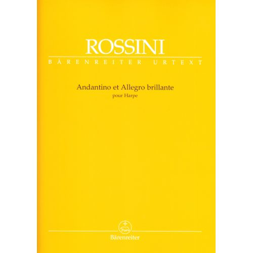 BARENREITER ROSSINI G. - ANDANTINO ET ALLEGRO BRILLANTE - HARP