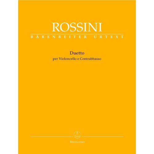 BARENREITER ROSSINI G. - DUETTO - VIOLONCELLO, CONTREBASSO