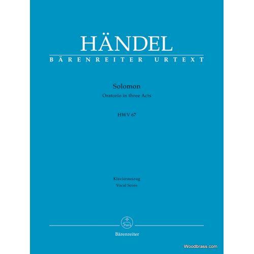 BARENREITER HANDEL - SOLOMON HWV 67 - VOCAL SCORE