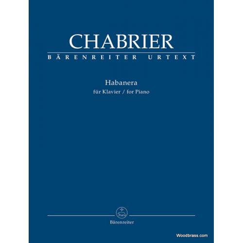 BARENREITER CHABRIER E. - HABANERA - PIANO