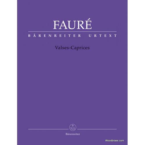 BARENREITER FAURE G. - VALSES-CAPRICES