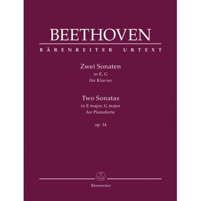 BARENREITER BEETHOVEN L.V. - ZWEI SONATEN OP.14 - PIANO