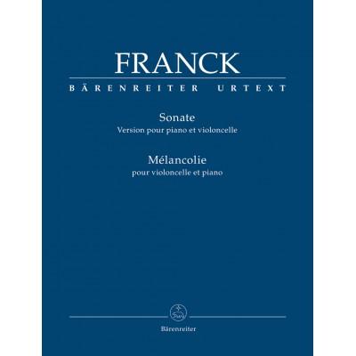 BARENREITER FRANCK C. - SONATE POUR VIOLONCELLE ET PIANO