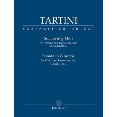 BARENREITER TARTINI G. - SONATA IN G MINOR