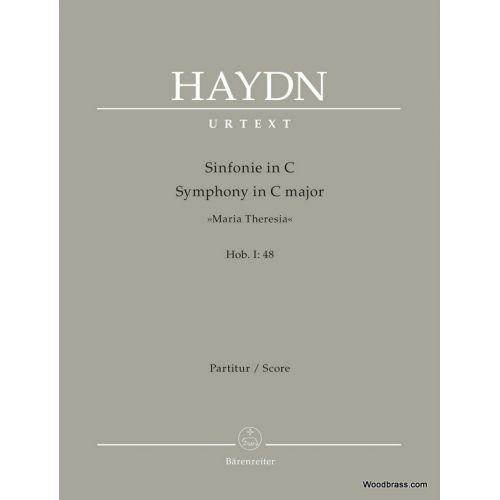 BARENREITER HAYDN J. - SYMPHONY IN C MAJOR