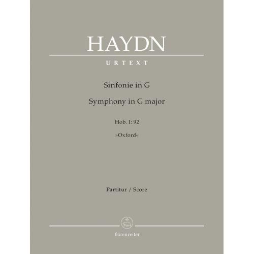 BARENREITER HAYDN JOSEPH - SYMPHONY IN G MAJOR Hob. I:92
