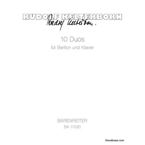 BARENREITER KELTERBORN R. - 10 DUOS FÜR BARITON UND KLAVIER
