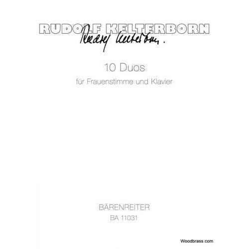 BARENREITER KELTERBORN R. - 10 DUOS FÜR FRAUENSTIMME UND KLAVIER