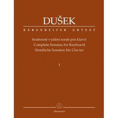 BARENREITER DUSEK F.X. - COMPLETE SONATAS FOR KEYBOARD VOL.1