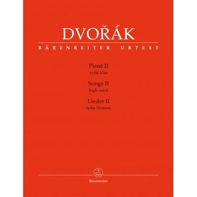 BARENREITER DVORAK A. - SONGS II - HIGH VOICE & PIANO