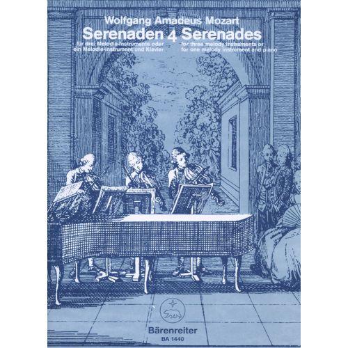 BARENREITER MOZART W.A. - SERENADES VOL.4 : SERENADE EN DO MAJEUR KV 439B/4,5