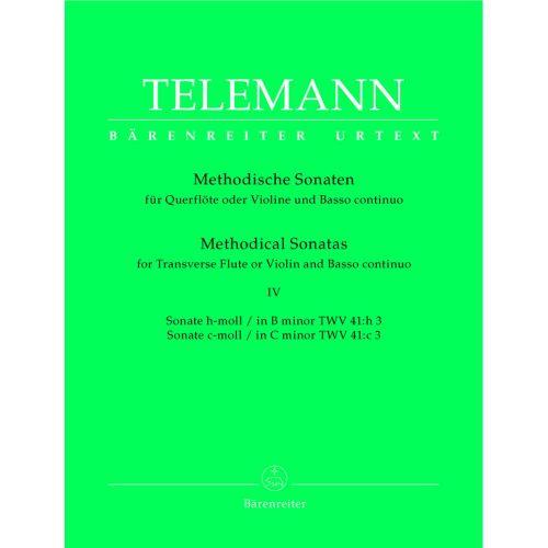 BARENREITER TELEMANN G.P. - 12 METHODICAL SONATAS VOL.4 - FLUTE OR VIOLIN, BASSO CONTINUO