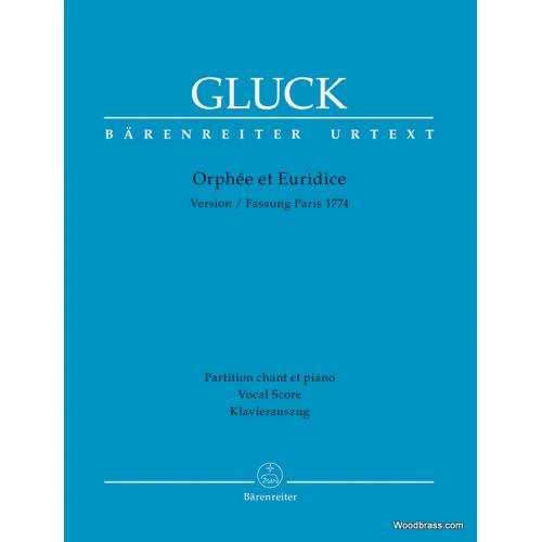 BARENREITER GLUCK C.W. - ORPHEE & EURIDICE (VERSION PARISIENNE) - VOCAL SCORE