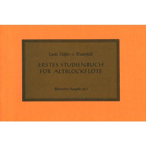 BARENREITER HOFFER-VON WINTERFELD L. - ERSTES STUDIENBUCH - RECORDER