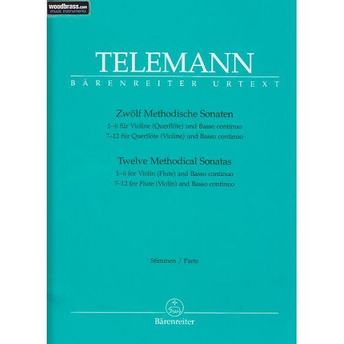 BARENREITER TELEMANN G.P. - ZWÖLF METHODISCHE SONATEN - FLUTE/VIOLON ET BC