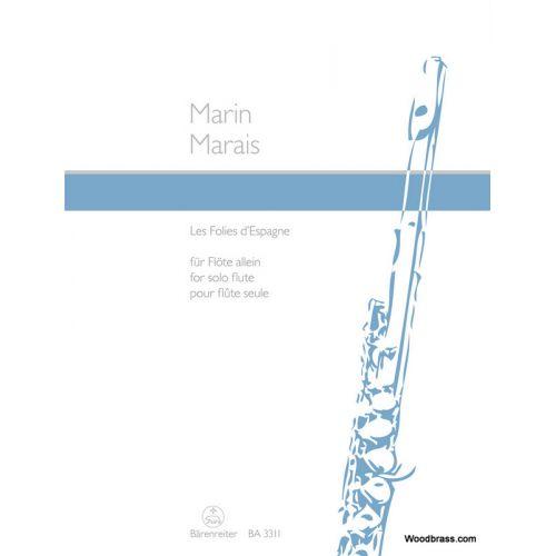 BARENREITER MARAIS MARIN - FOLIES D'ESPAGNE - FLUTE SOLO