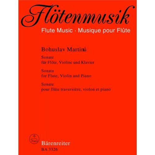 BARENREITER MARTINU BOHUSLAV - SONATE - FLUTE, VIOLON, PIANO