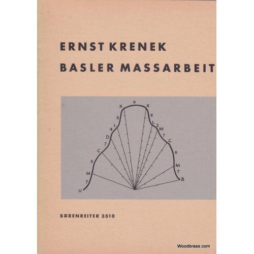 BARENREITER KRENEK ERNST - BASLER MASSARBEIT OP.173 - 2 PIANOS