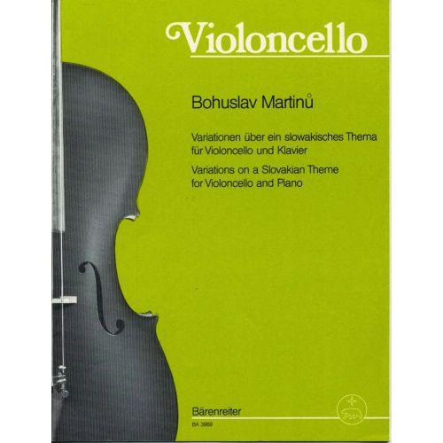BARENREITER MARTINU BOHUSLAV - VARIATIONEN UBER EIN SLOWAKISCHES THEMA - VIOLONCELLE, PIANO