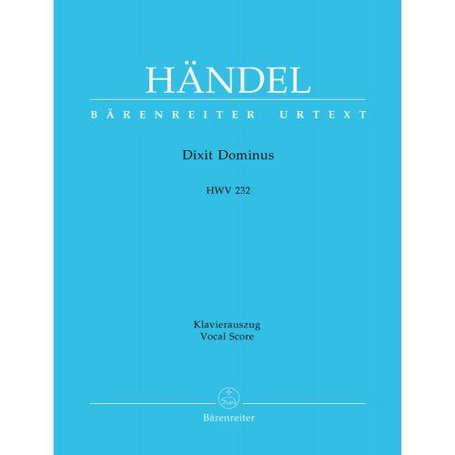 BARENREITER HAENDEL G.F. - DIXIT DOMINUS HWV 232 - VOCAL SCORE