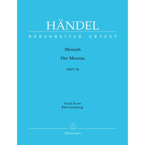 BARENREITER HAENDEL G.F. - THE MESSIAH - DER MESSIAS (ENGLISCH/DEUTSCH) HWV 56 - REDUCTION CHANT, PIANO