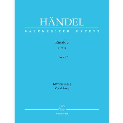 BARENREITER HANDEL G.F. - RINALDO HWV 7A - PIANO REDUCTION
