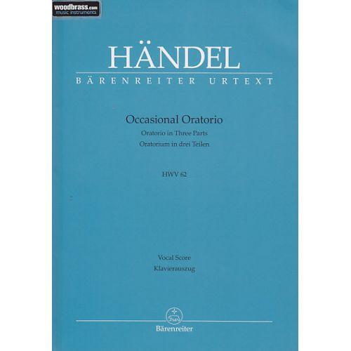 BARENREITER HÄNDEL - OCCASIONAL ORATORIO HWV 62
