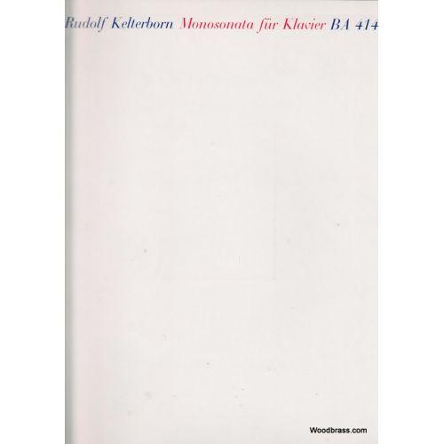 BARENREITER KELTERBORN RUDOLF - MONOSONATA FUR KLAVIER