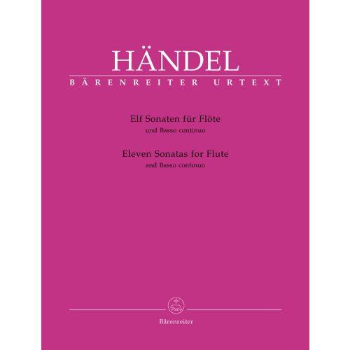 BARENREITER HAENDEL G.F. - ELEVEN SONATAS - FLUTE AND BASSO CONTINUO