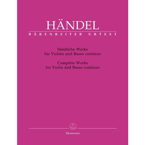 BARENREITER HAENDEL G.F. - SAMTLICHE WERKE - VIOLIN, BASSO CONTINUO